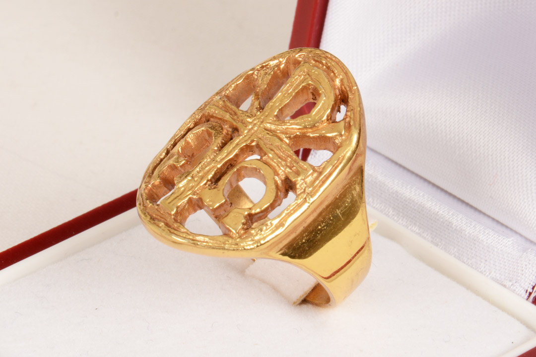 Anello ALB5011 in argento dorato