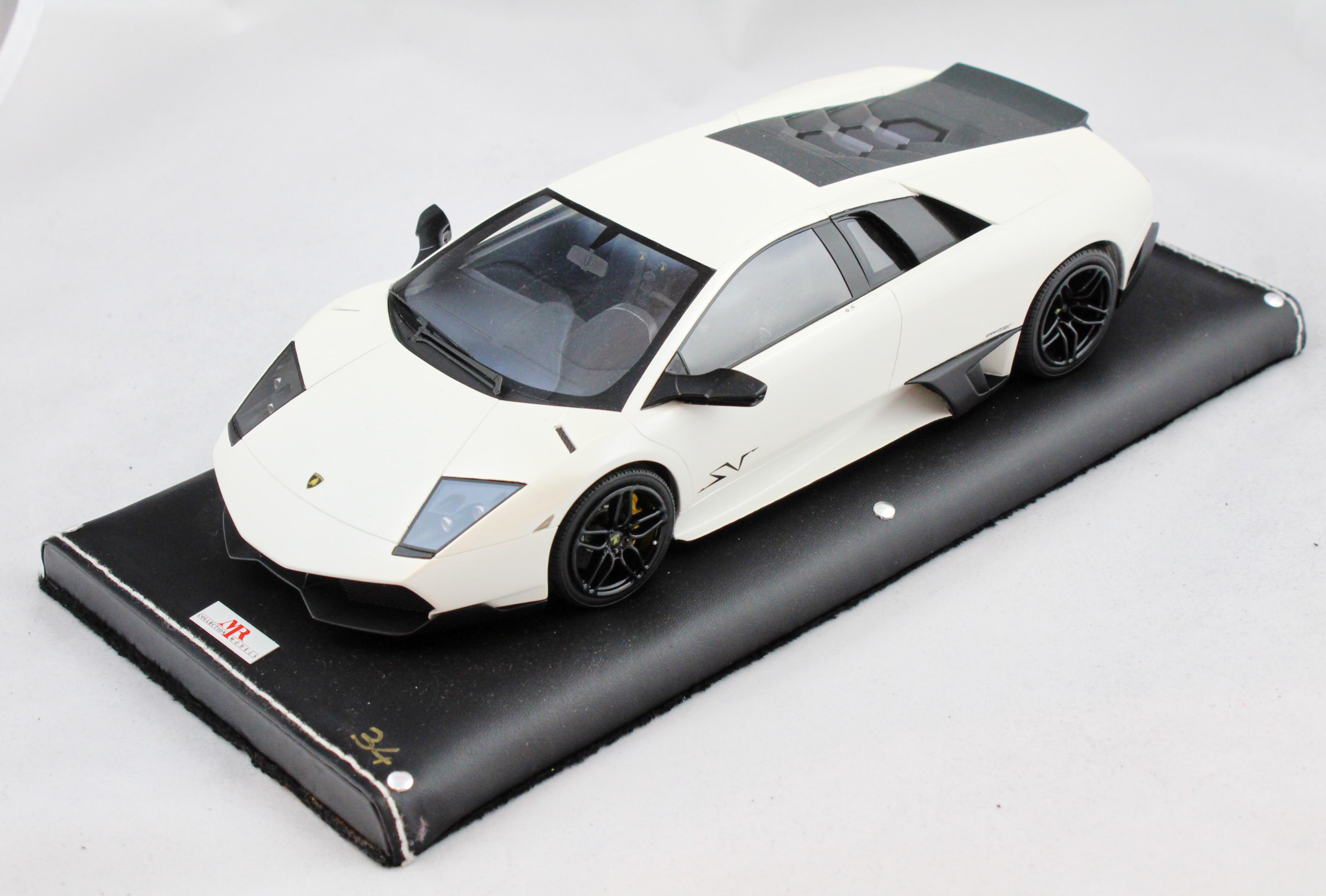Lamborghini Murcielago Lp670-4sv Fixed Wing Canopus White 1/18