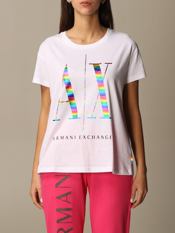 T-shirt donna ARMANI EXCHANGE con maxi-logo