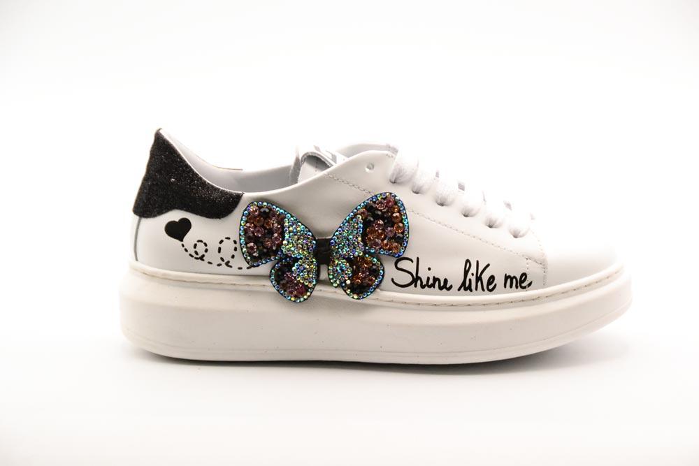 Gio+ Calzatura Donna Sneakers Combi Bianca/Farfalla G510A