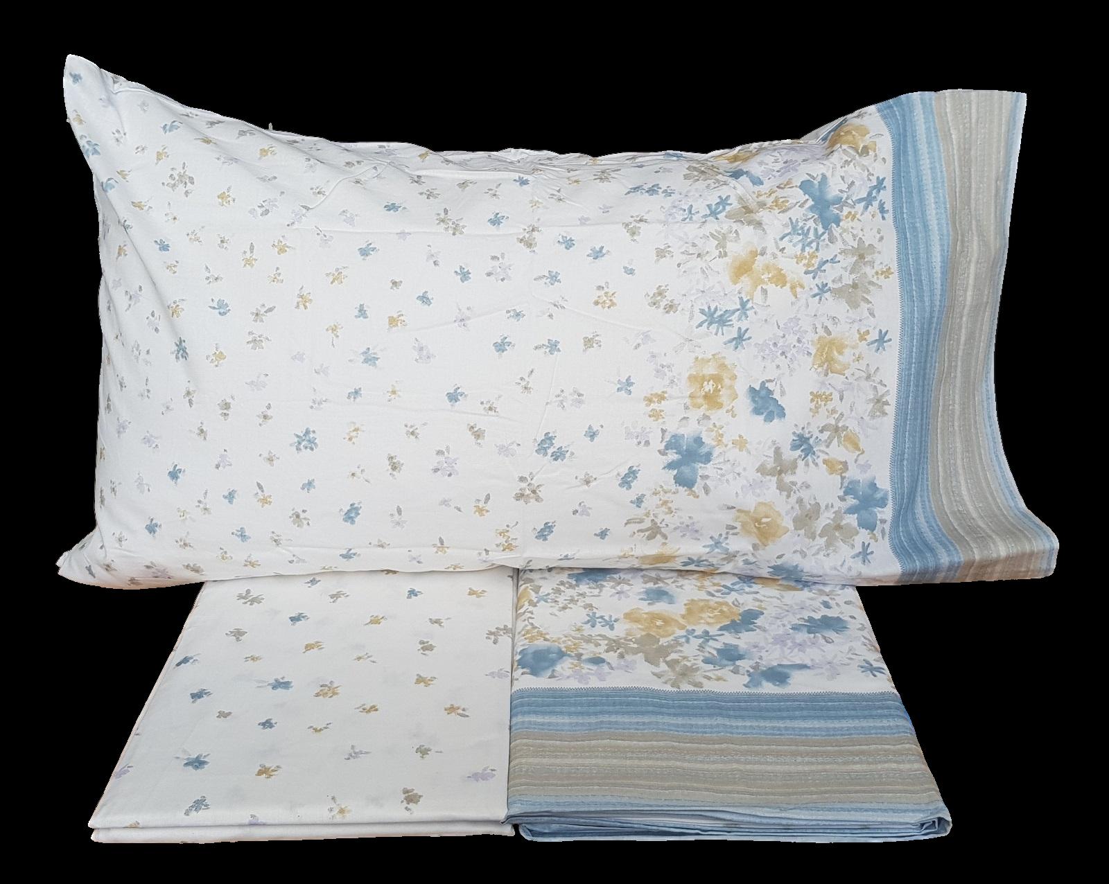 MAE' SUMMIT Lenzuola completo set letto 100% Cotone 150/180 fili Made in Italy