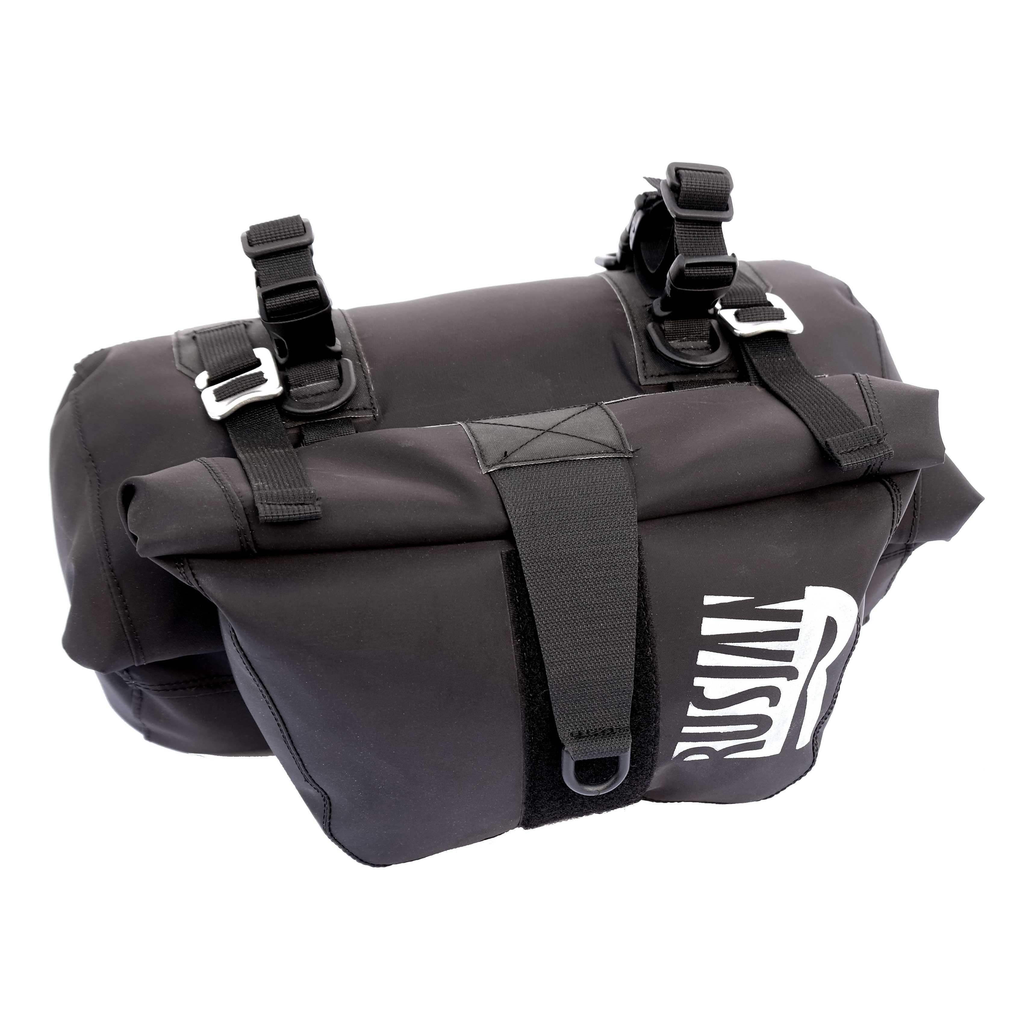 Borsa da manubrio con tasca frontale waterproof per bikepacking