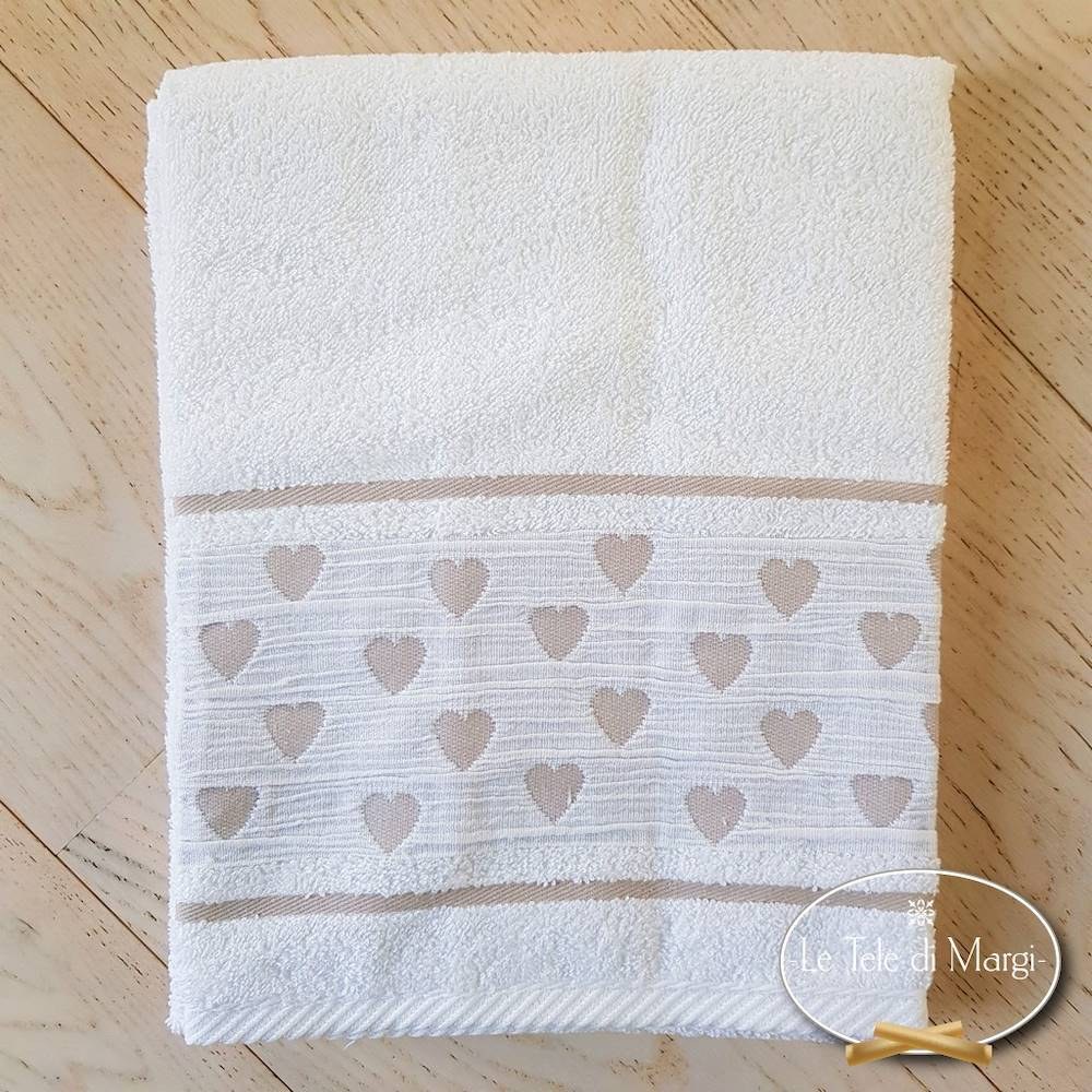 Asciugamani Cuoricini Bianco
