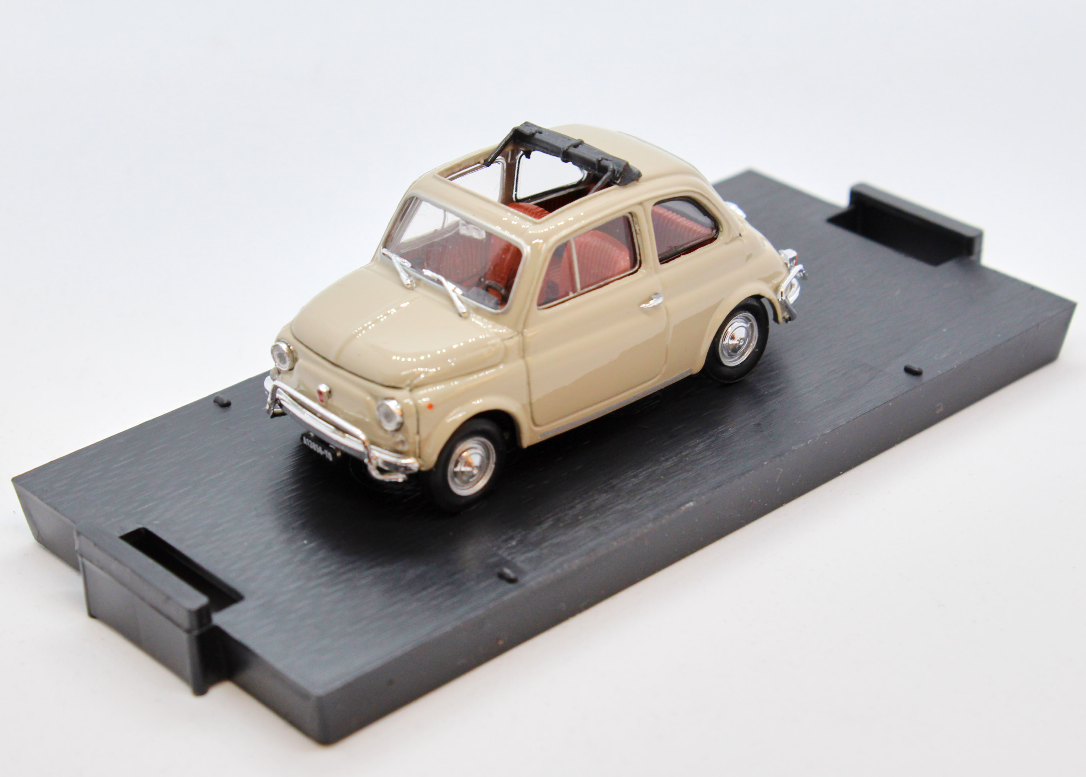 Fiat 500L Open 1968-1972 Sand Beige 1/43 100% Made In Italy By Brumm