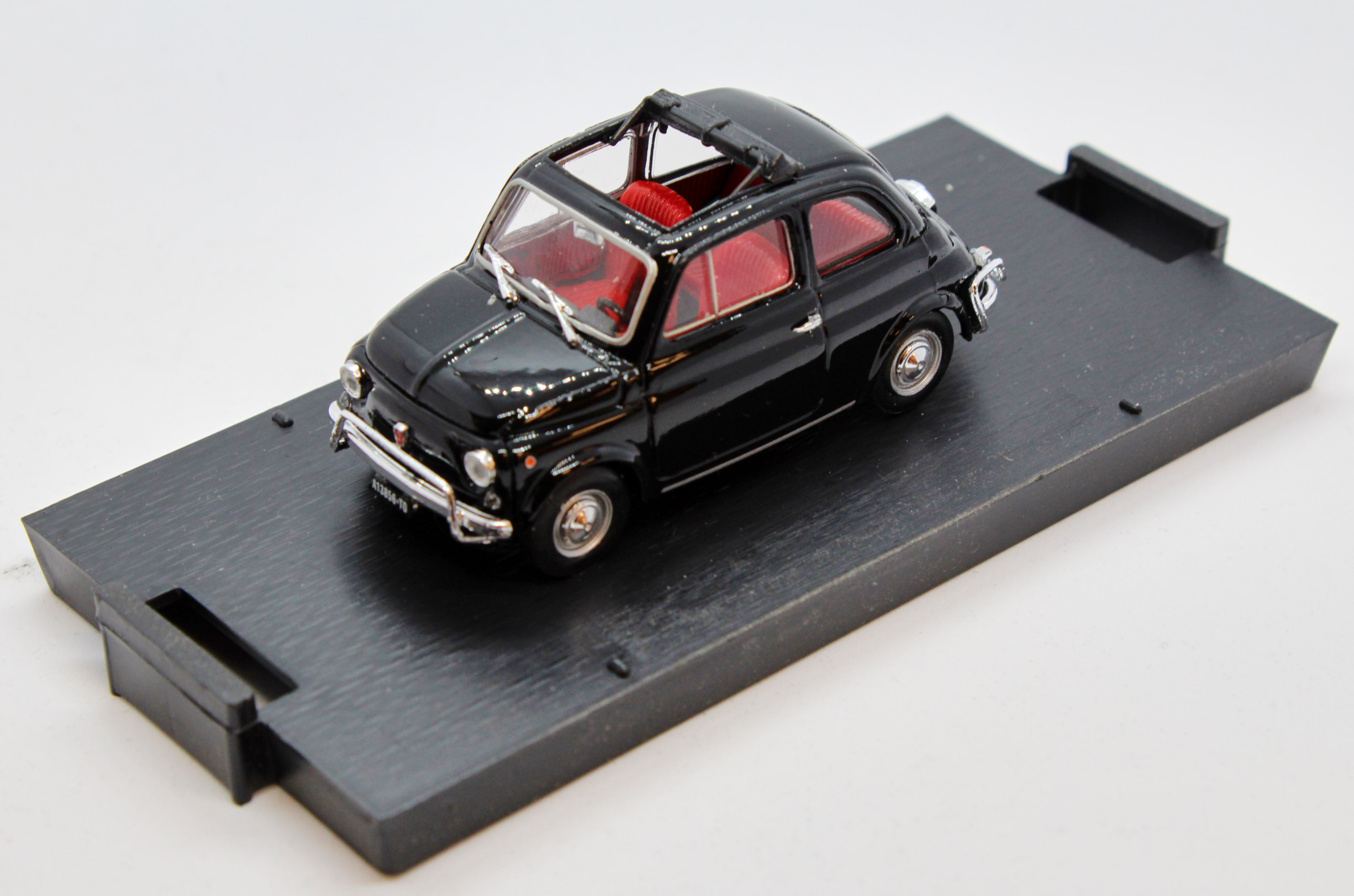 Fiat 500L Open 1968-1972 Black 1/43 100% Made In Italy By Brumm