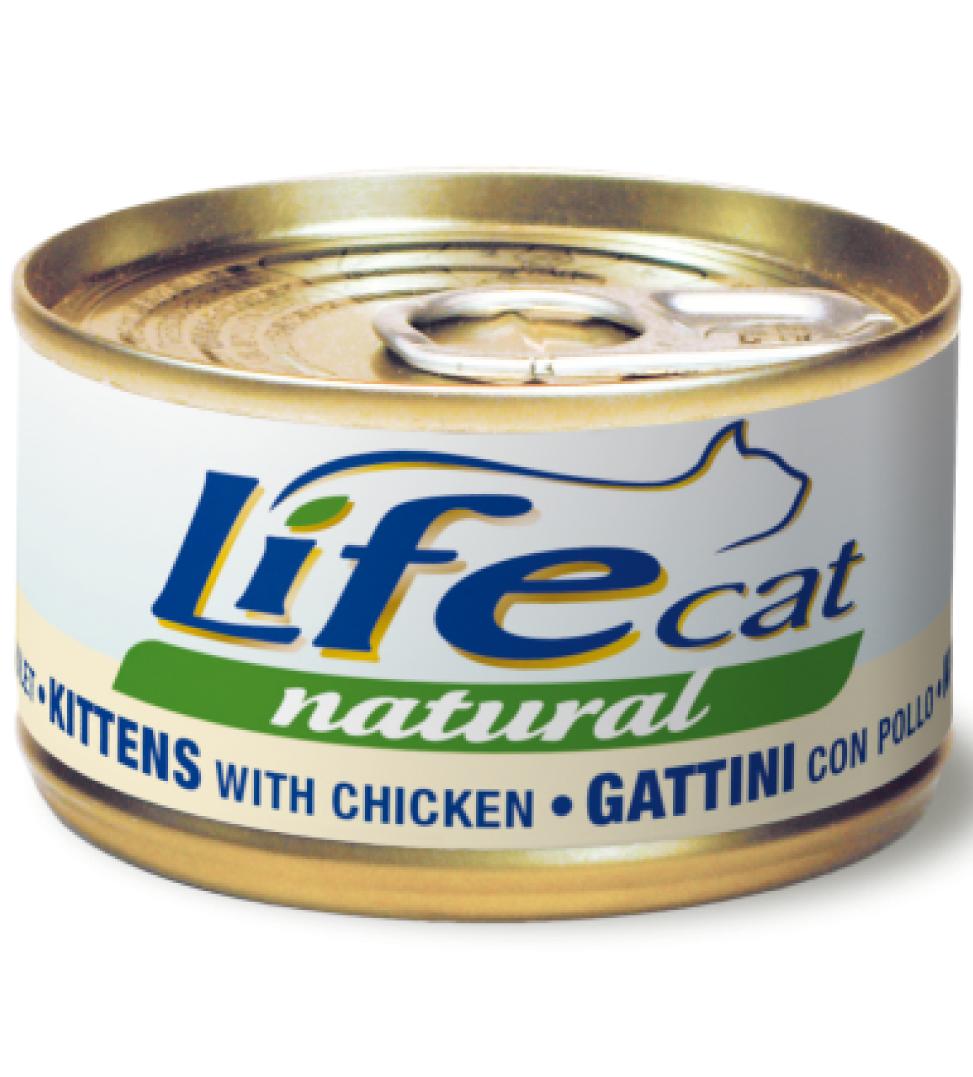Life Cat - Natural - Kitten 85g x 24 lattine