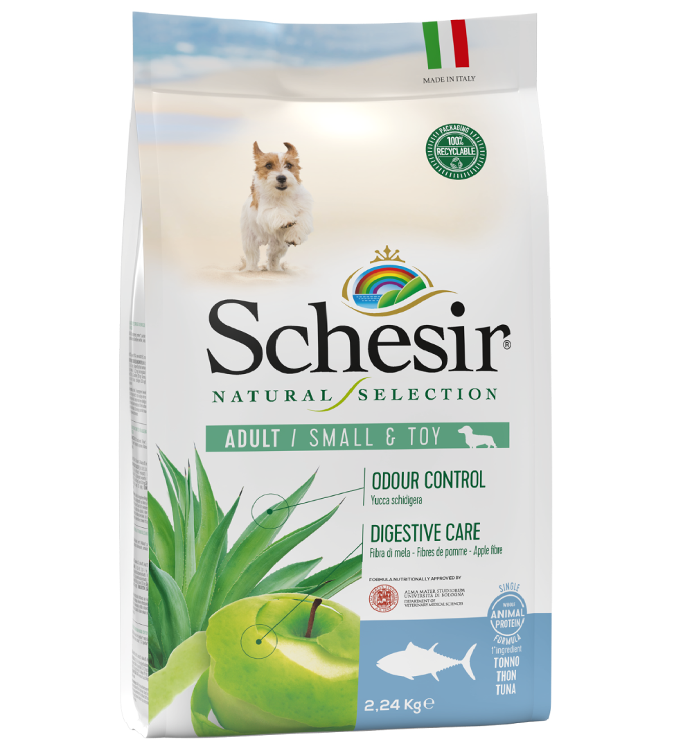 Schesir Dog - Natural Selection - Adult - Toy/Small - 2,24 kg