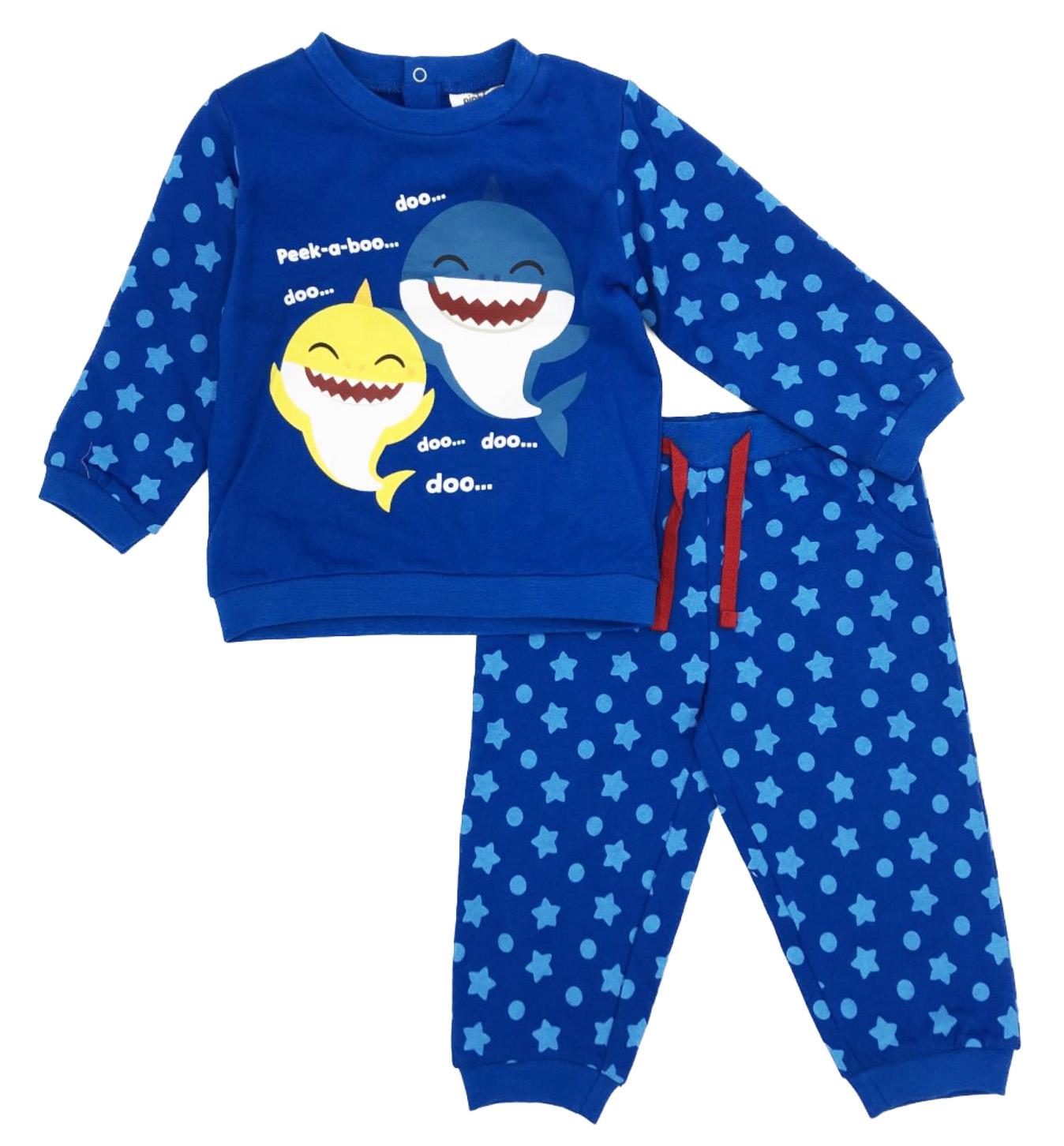 Tuta Baby Shark Misure da 12 a 36 Mesi Primavera 2021