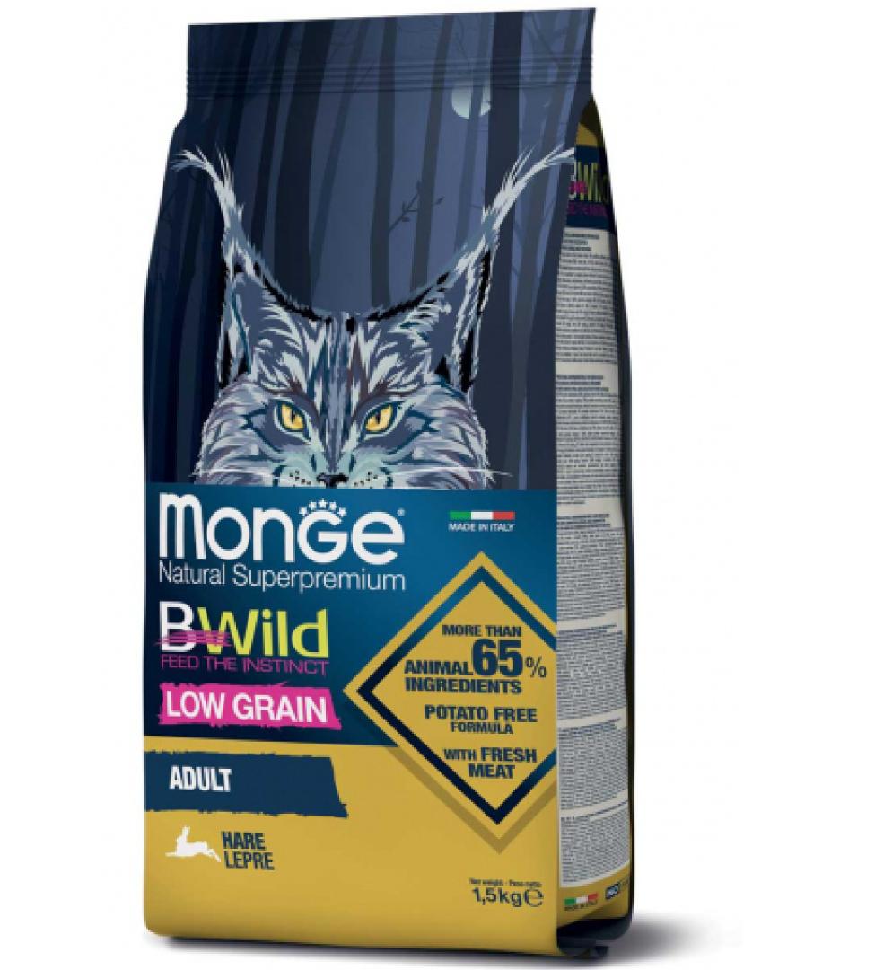 Monge Cat - BWild Low Grain  - Adult - 1,5 kg