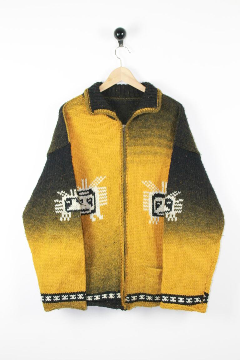 Cardigan zip lana