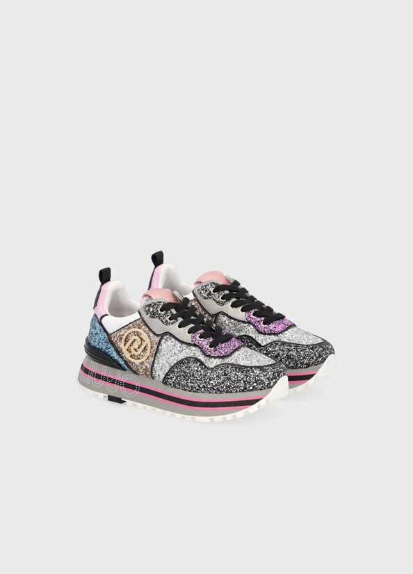 Sneakers MAXI WONDER 24 glitter multicolor LIU JO