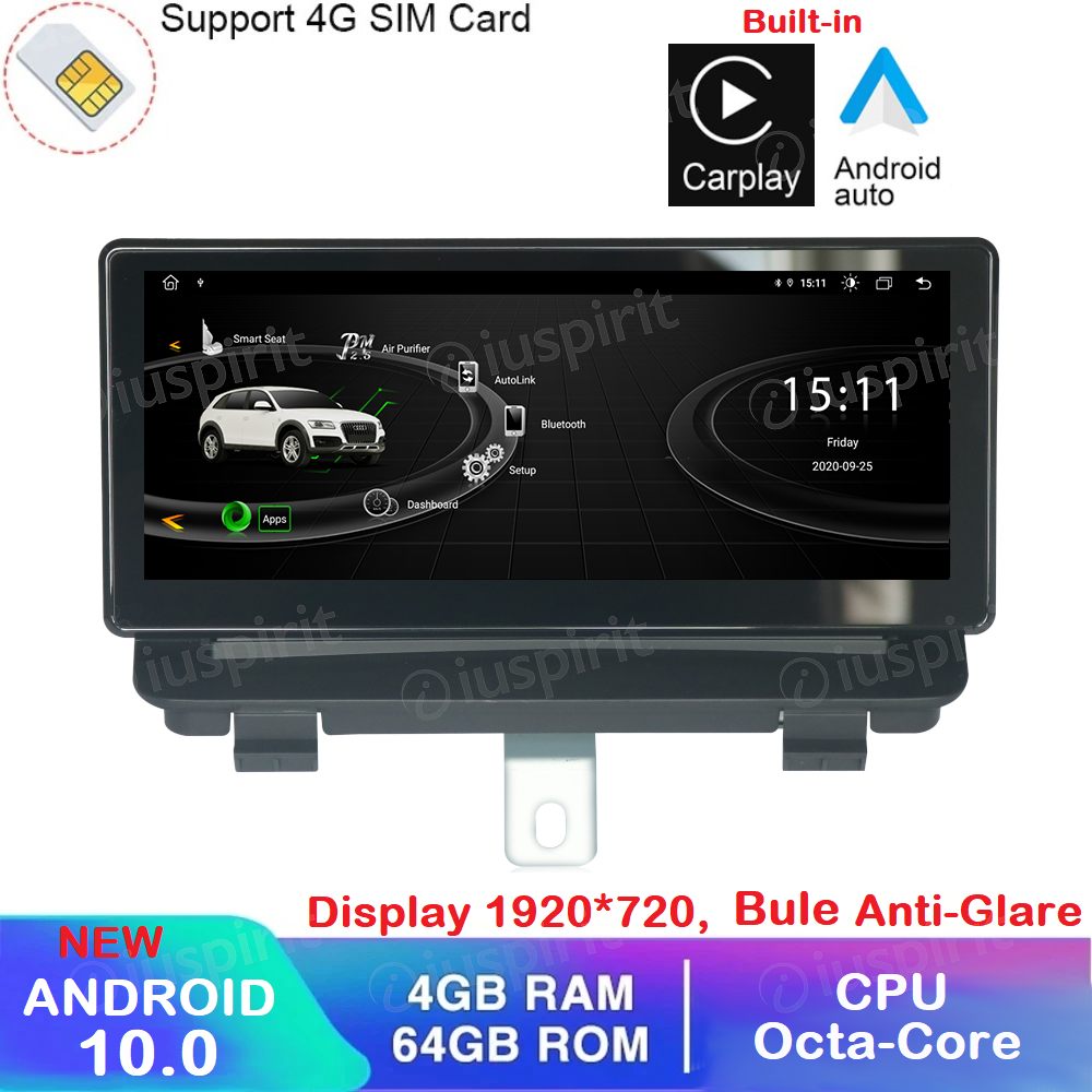 ANDROID navigatore per Audi Q3 2013-2018 Octa Core 4GB RAM 64GB ROM GPS WI-FI Bluetooth MirrorLink 4G LTE Car Play Android Auto