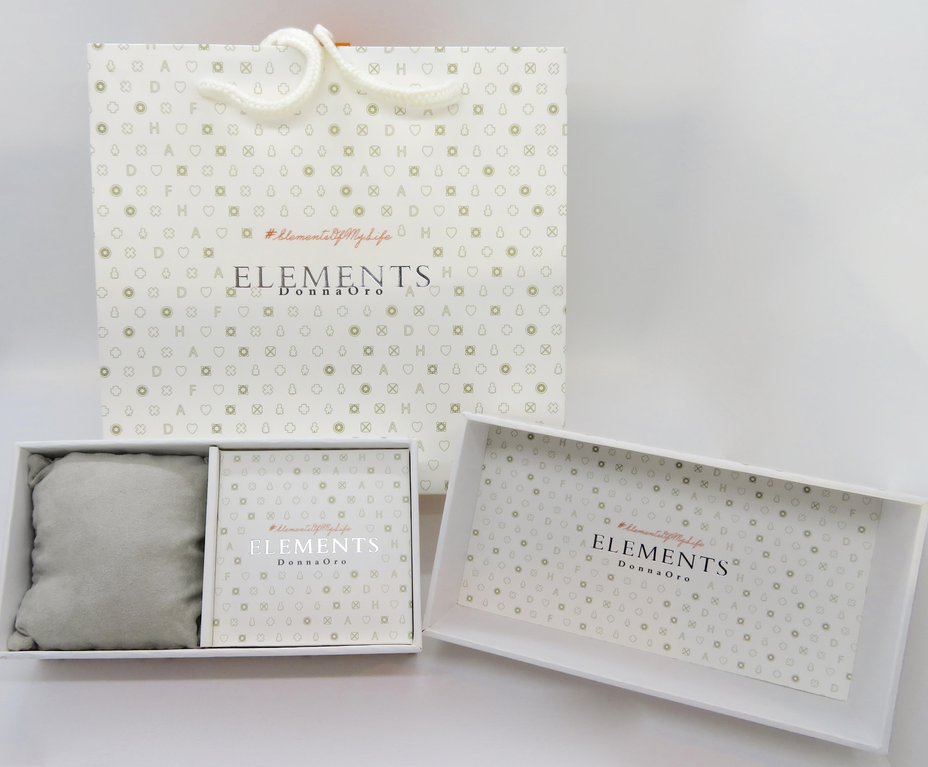 Bracciale Elements Donnaoro con elemento Navette Oro bianco e diamanti
