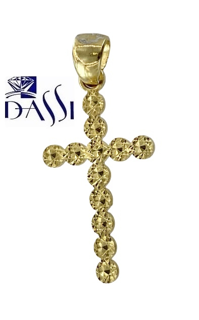 CROCE IN ORO GIALLO O BIANCO 18KT,  DOUBLE FACE,