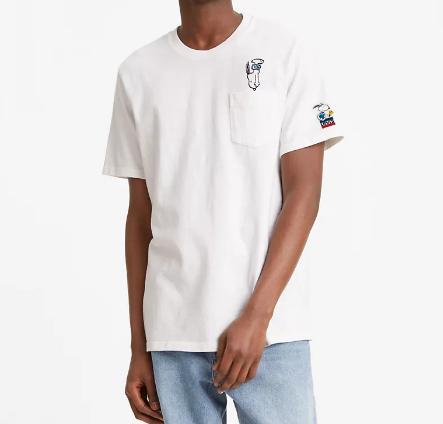 T-shirt uomo LEVI'S X PEANUTS RELAXED POCKET TEE