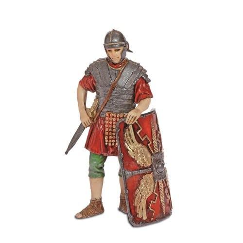 Soldato romano con scudo cm. 13