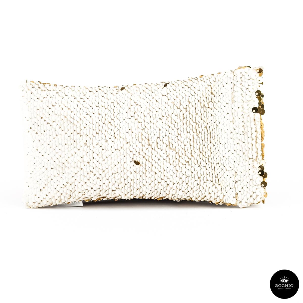 Lunari, PAILLETTES Reverse Gold glasses case