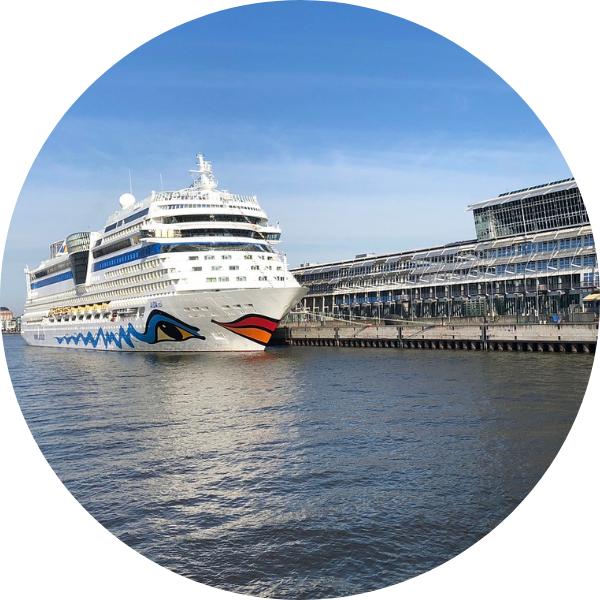 Nave da crociera in porto a Venezia