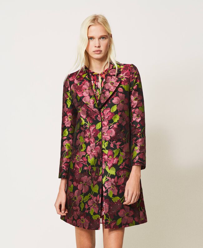 SHOPPING ON LINE TWINSET MILANO SPOLVERINO JACQUARD A FIORI NEW COLLECTION WOMEN'S SPRING SUMMER 2021