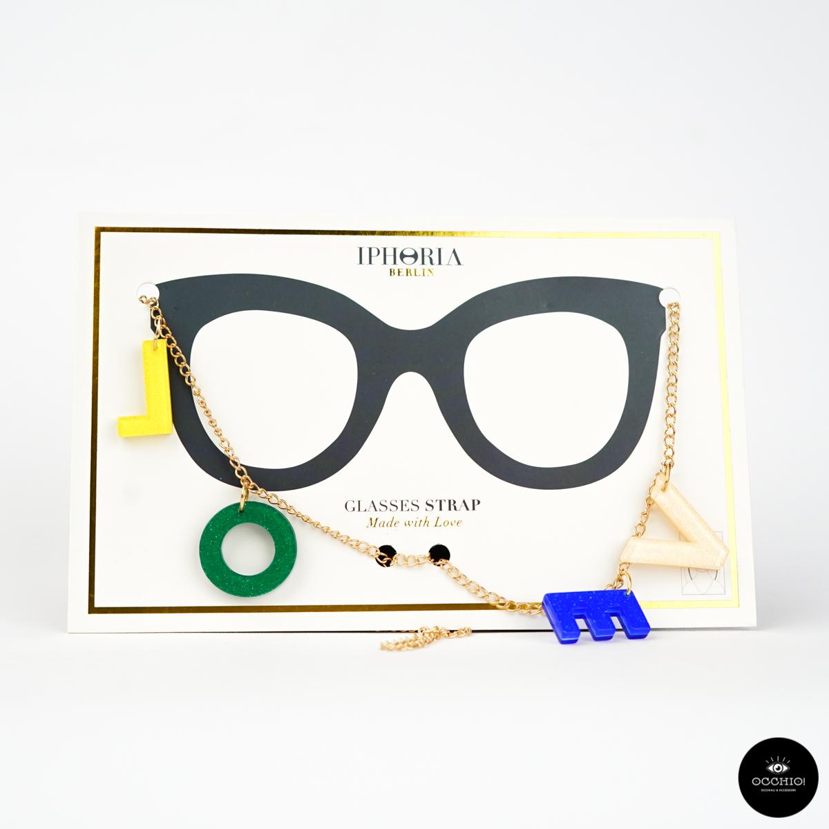 Catenella occhiali Iphoria, CAPITAL LETTERS CHAIN