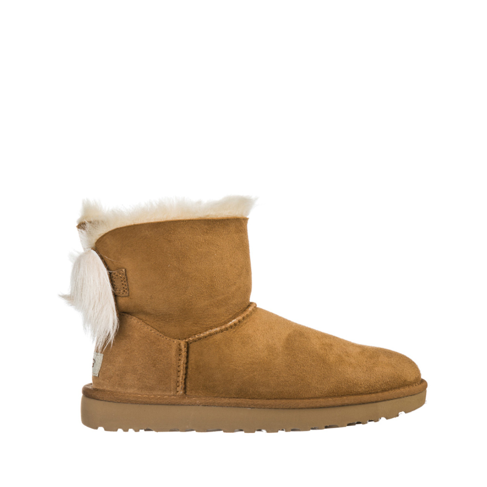 UGG FLUFF BOW MINI CHESTNUT  -16