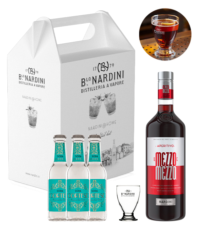 Nardini@Home: Mezzoemezzo Cocktail Kit box