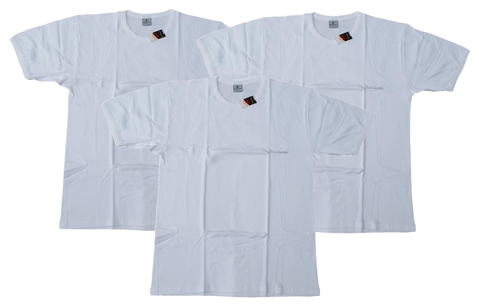 RENATO BALESTRA M0085. 3x  Maglietta Uomo, manica corta, paricollo, Cotone caldo
