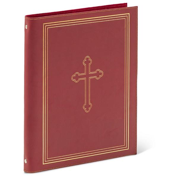 Cartella porta documenti formato A4 stampa oro a caldo in cuoio rigenerato