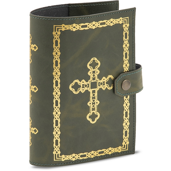 Coprilibro in cuoio rigenerato per Breviario Liturgia delle ore 4 volumi stampa oro a caldo