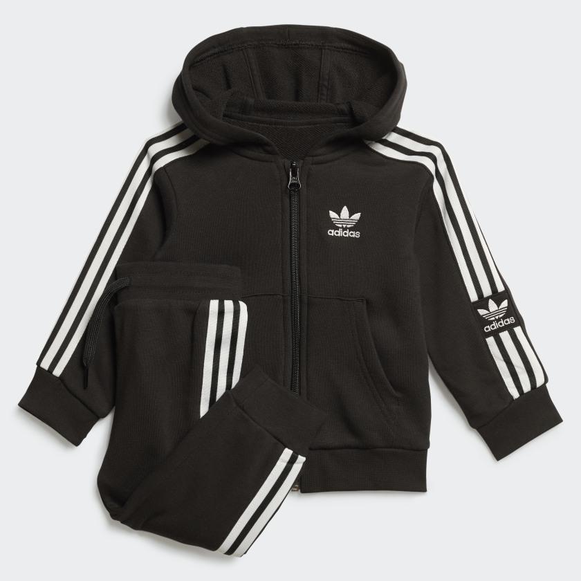 Tuta Adidas Bambino Nera neonato FM5596