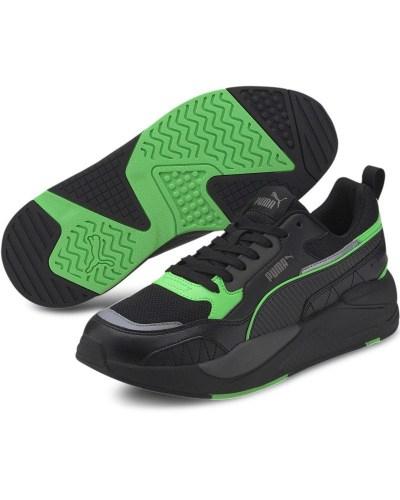 Puma scarpe sportive sneakers X-Ray 2 square nero verde lifestyle uomo