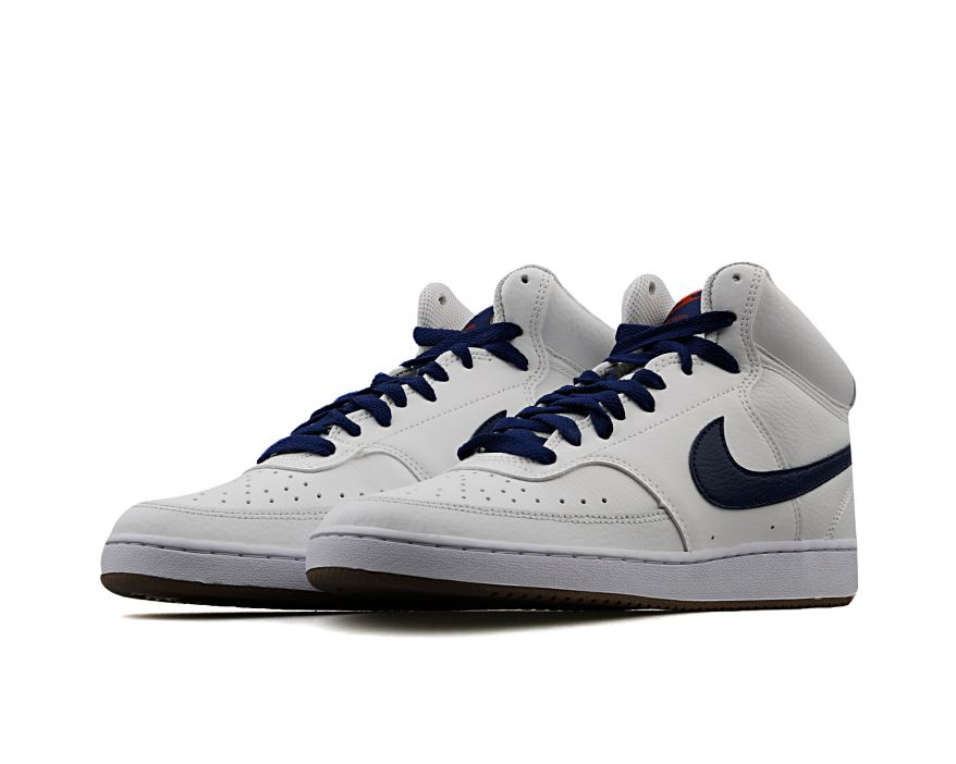 Nike scarpe court vision mid cd5466-104 summit white/blue/void