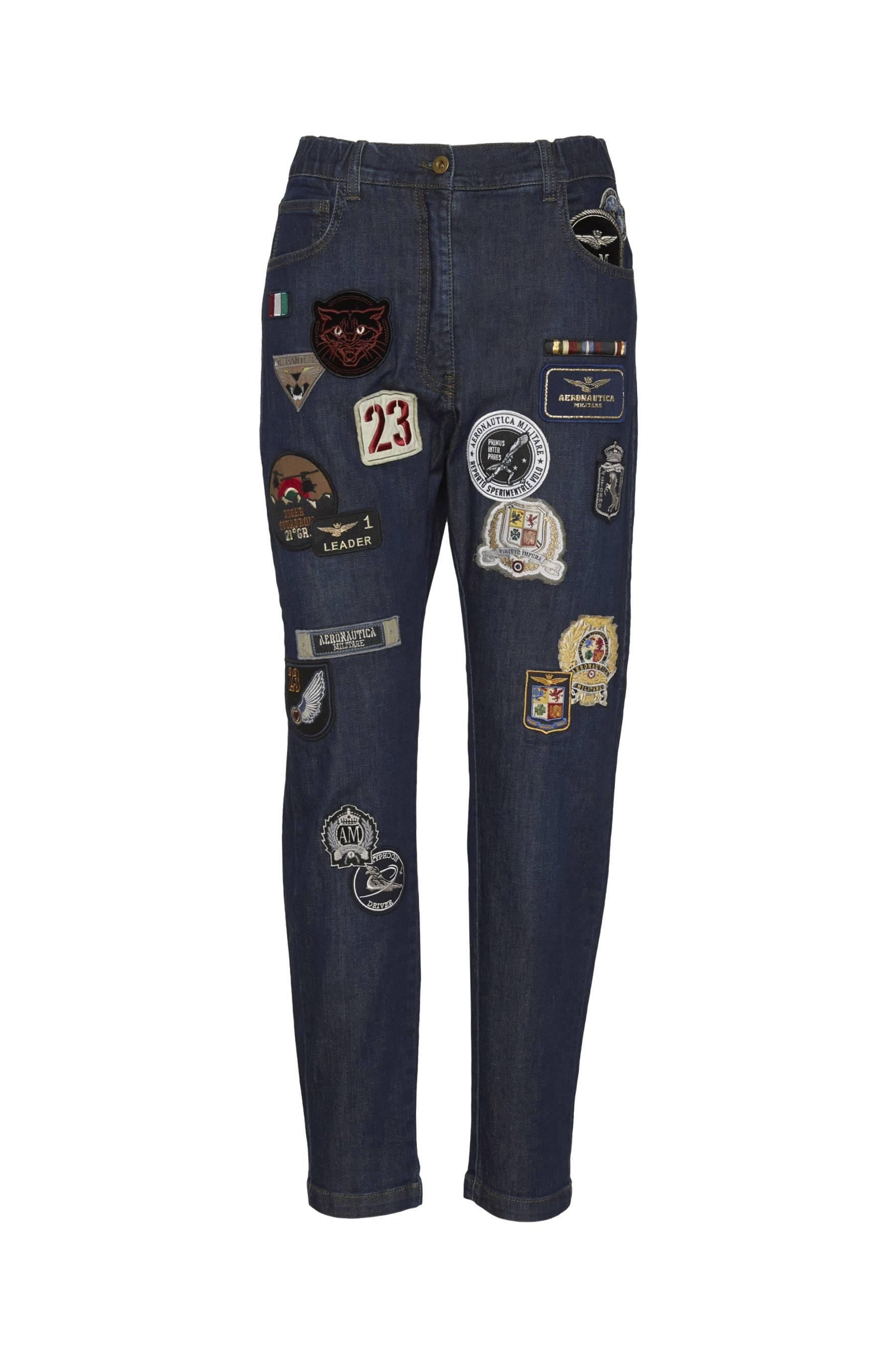 Denim patched jeans  1