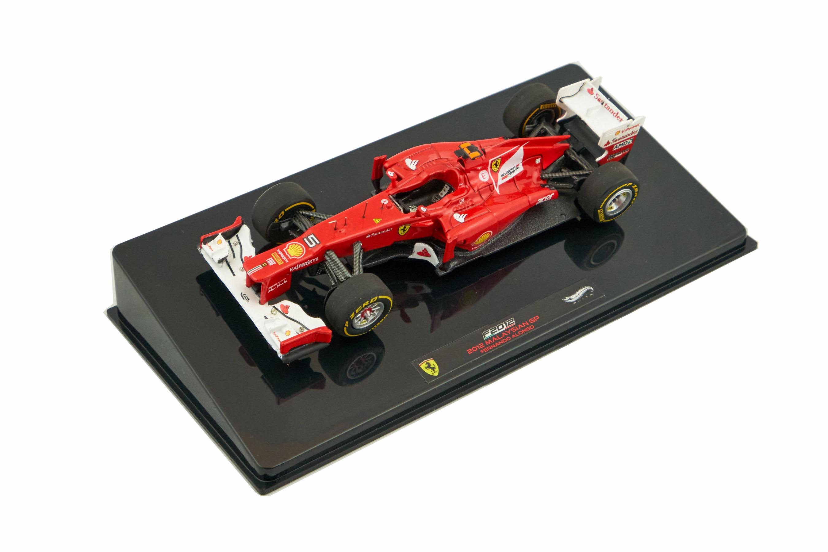 Ferrari F2012 Malaysian GP Fernando Alonso 1/43 Hot Wheels