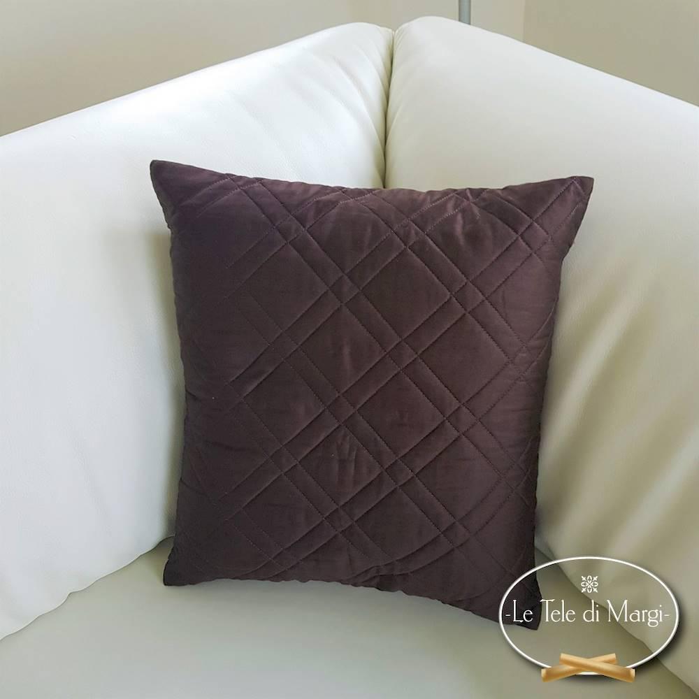 Fodera cuscino trapuntata marrone 40 X 40