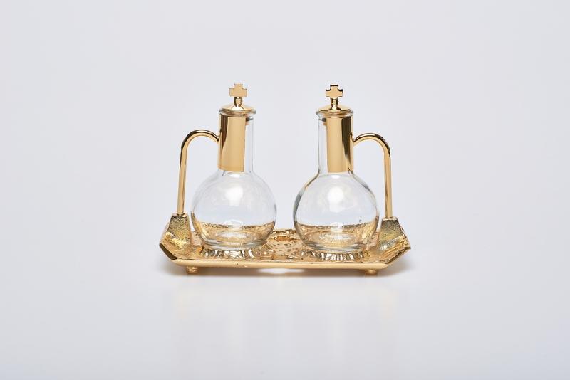 Ampolline vassoio fuso oro