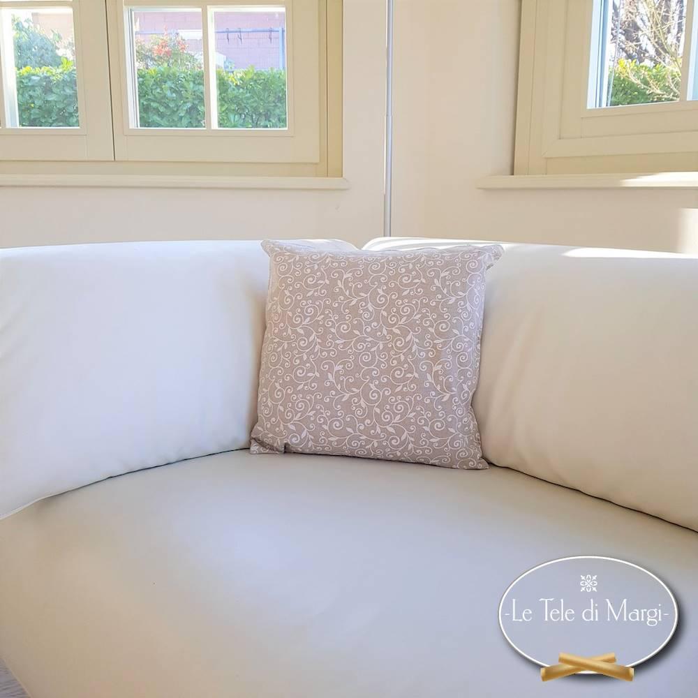 Fodera cuscino 40 x 40 ricamo bianco