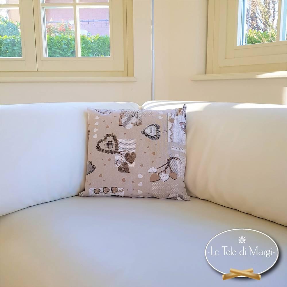 Fodera cuscino 40 x 40 tirolese beige