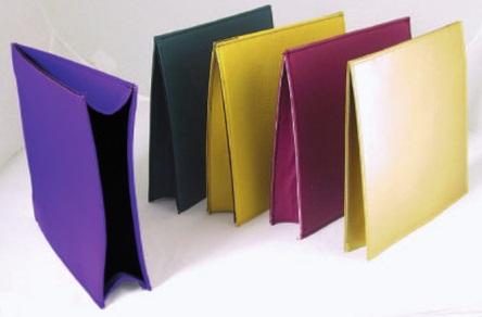 Busta rigida per elemosina colorata