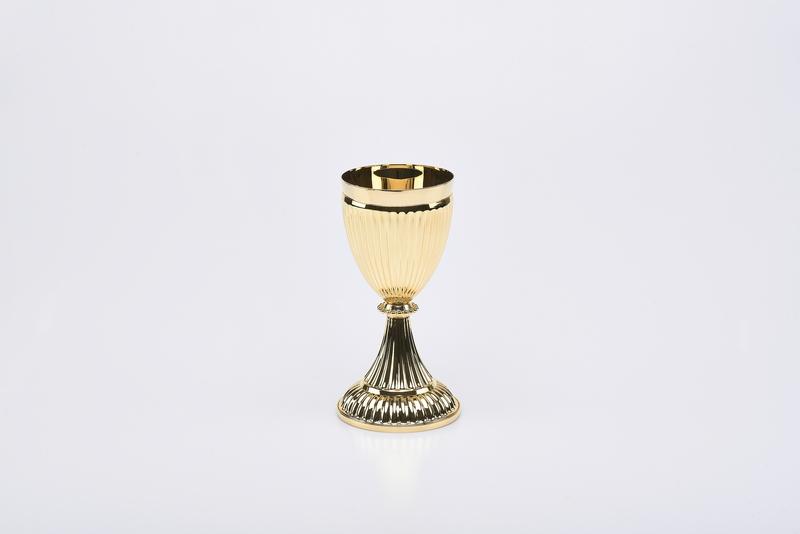 Calice Impero interamente dorato cm. 20