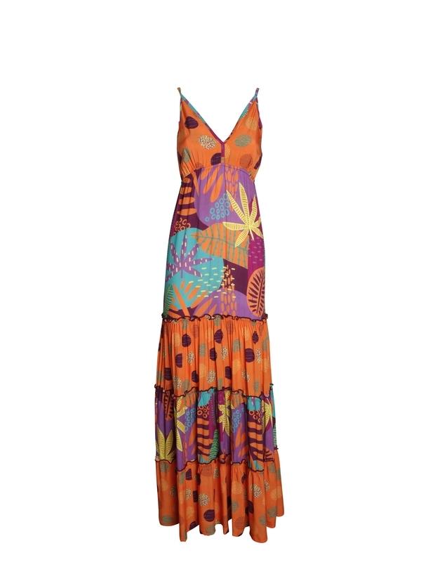 Robe longue à volants pour femme | Vêtements en ligne