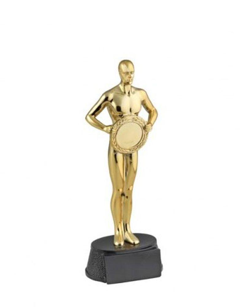 Premio Oscar statuetta in resina colore oro