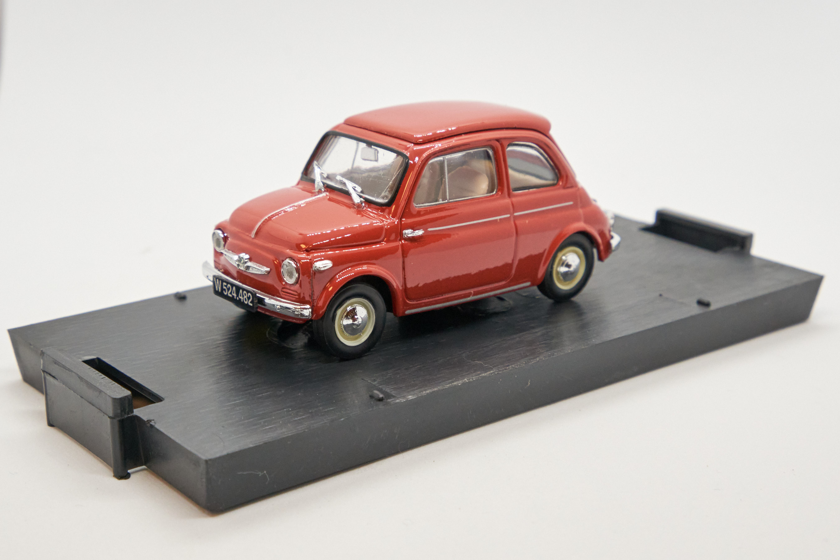 Steyr Puch 500D Rosso Corallo 1959 1/43 Brumm 100% Made In Italy