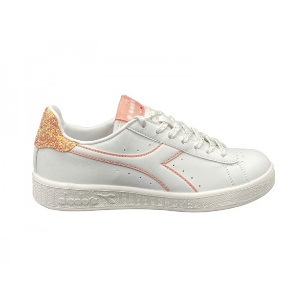 Diadora Game P donna bianca in pelle c6604