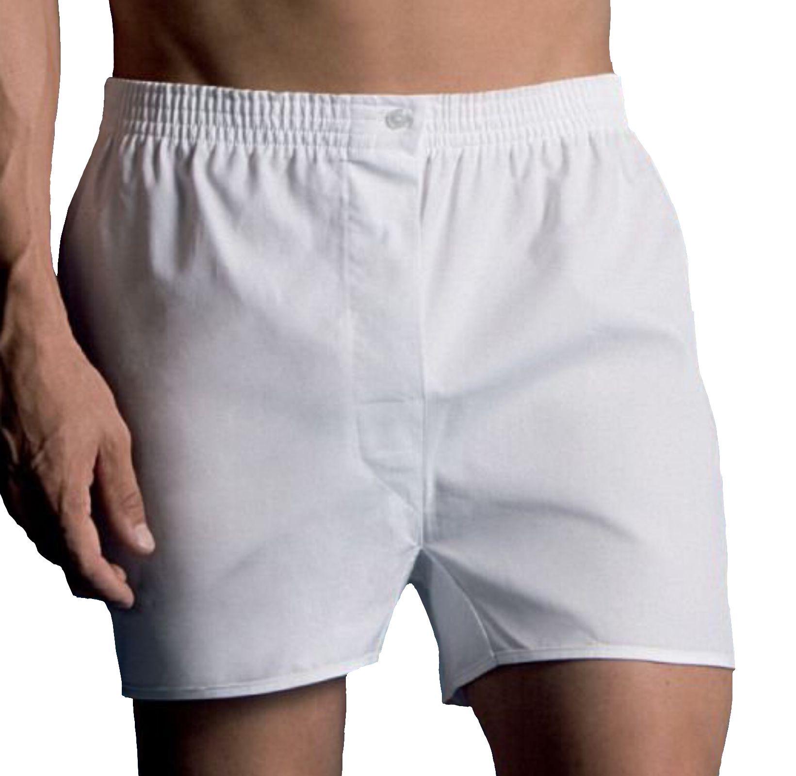 2 Boxer da uomo in tela di cotone 100% con taglio classico VELA
