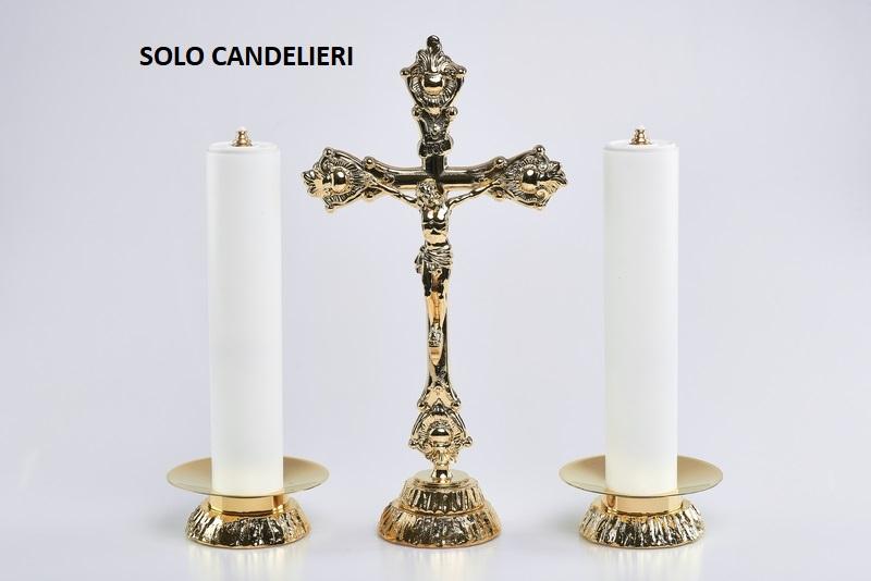 Coppia candelieri in fusione completi