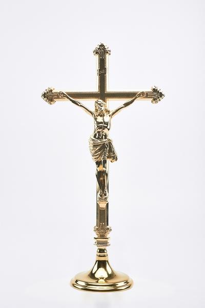 Croce ottone con base