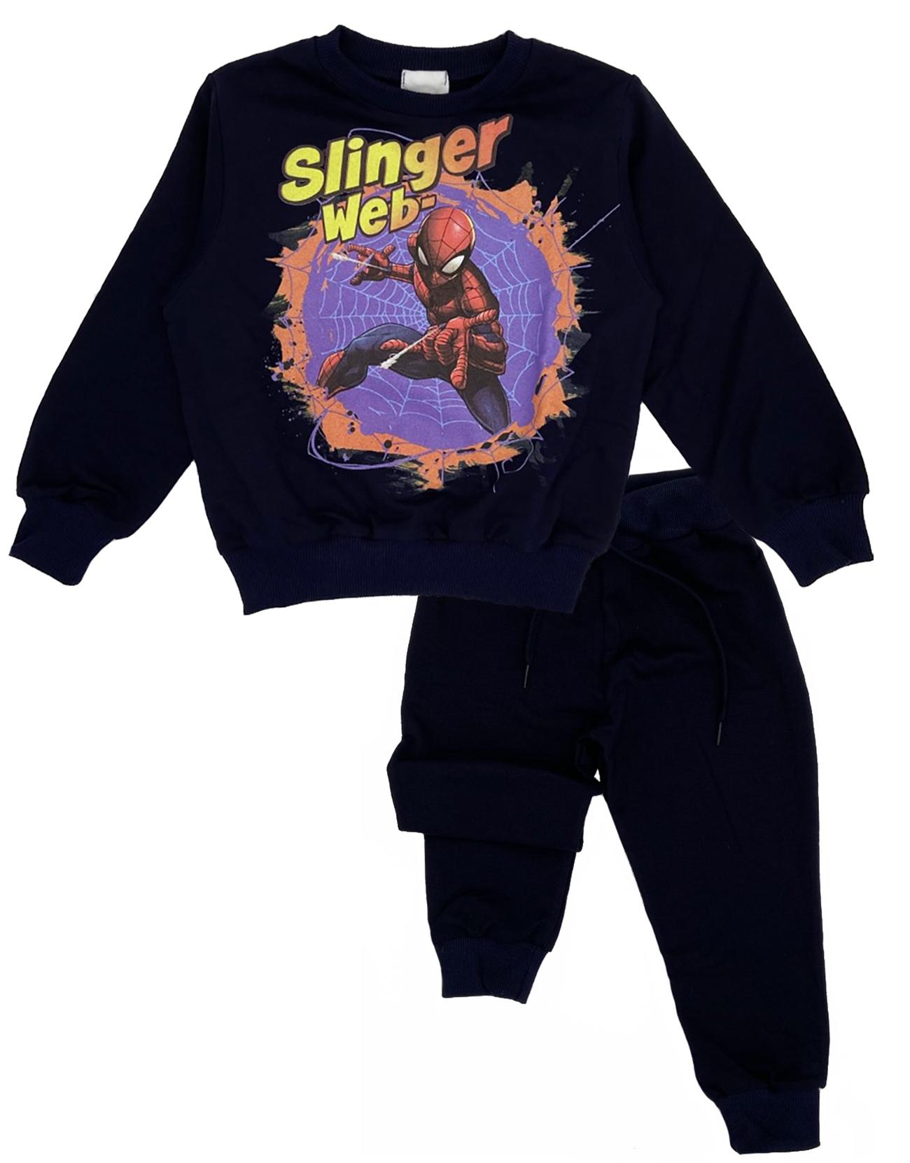 Tuta Spiderman bambino blu 3 4 5 6 7 anni Interno leggero Primavera 2021