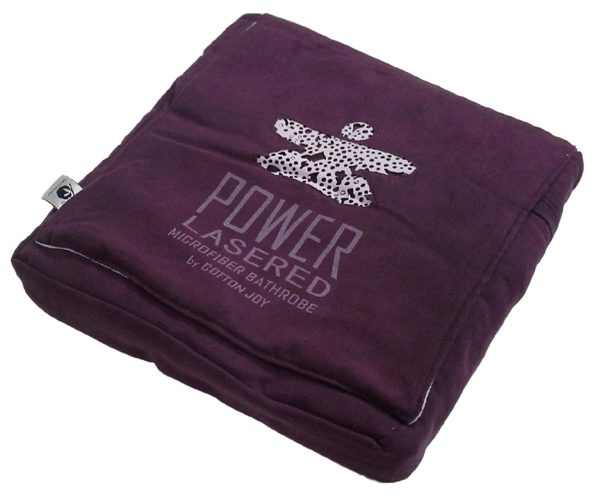 Accappatoio cappuccio donna con borsetta. COTTON JOY - POWER LASERED Microfibra.