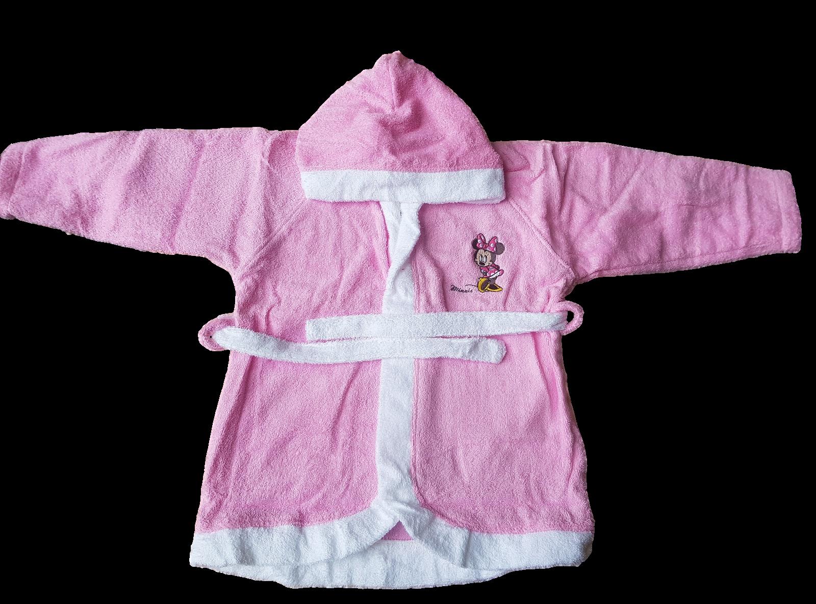 Accappatoio Baby Bambina bimba 100% Spugna di cotone DISNEY MINNIE WQ012 Bagno
